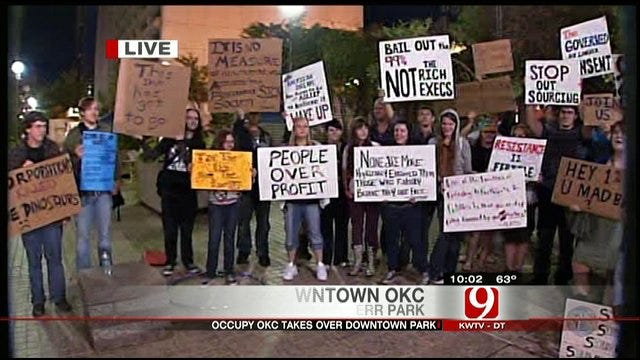 Occupy Wall Street Movement Sparks Camp Out In OKC