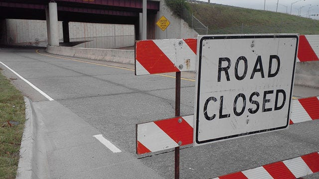Weekend Rain Shuts Down I-44 Ramps In Oklahoma City
