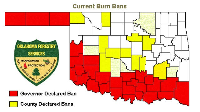 Burn Bans Lifted In Grady County, Custer County