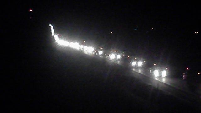 Construction Causes Major Traffic Back-Up On I-44
