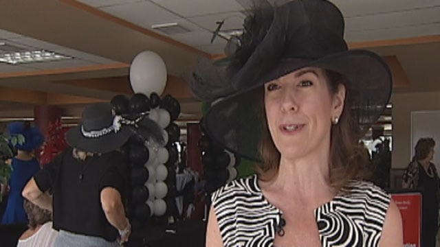 OKC Women Show Off Luxurious Hats At Derby Day Competition