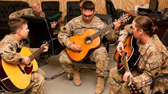 Donated Guitars Lift Oklahoma Soldiers' Spirits In Afghanistan