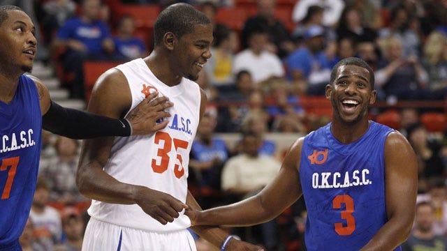 Durant's Team Prevails In Overtime Exhibition Thriller In OKC