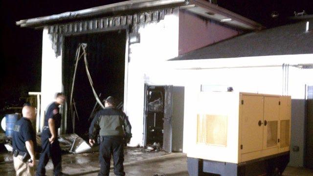 Crews Extinguish Blaze At Police Station In Perkins