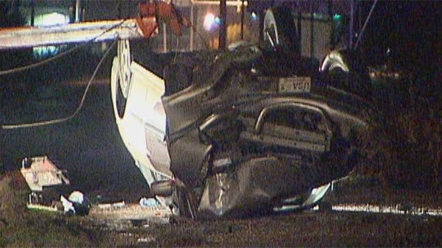 Driver Slams Into Pole In Southwest Oklahoma City