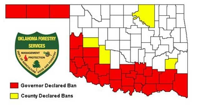 Grady County Commissioners Issue 30-Day Burn Ban