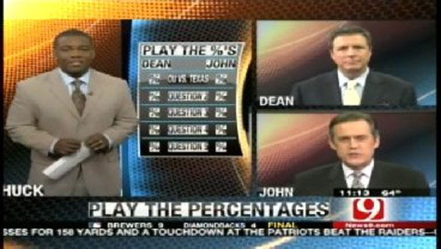 Play the Percentages: October 2, 2011