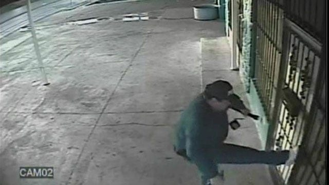 Camera Captures Burglary Suspect Dressed In Police Apparel In OKC