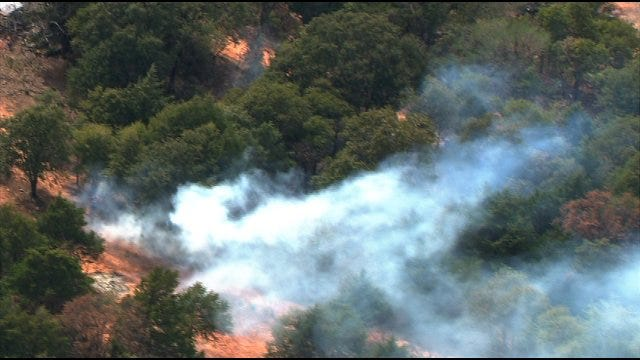 Wildfire Burning In Lincoln County
