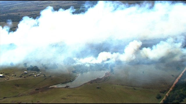 Crews Contain Wildfire Southeast Of Cushing