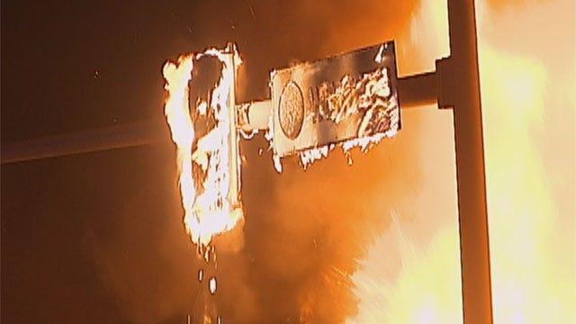 Fire Destroys Strip Mall In Northwest OKC