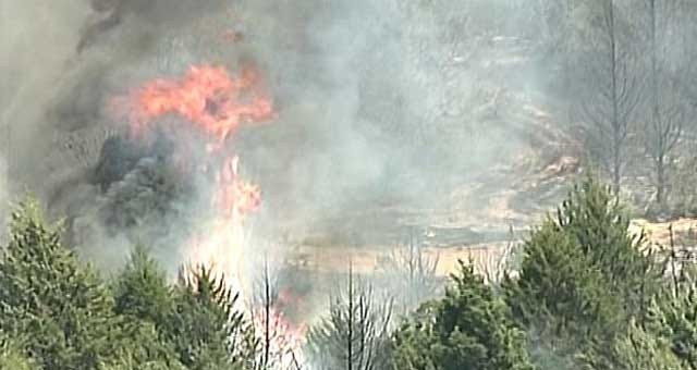 Firefighters Contain Wildfire Flare-Up In Northeast OKC