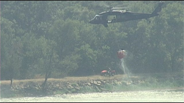 Your 2 Cents: Man Tries To Wave Helicopter Away From Pond