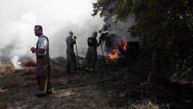Hay Field Fires Dog Pott County Firefighters, Farmers