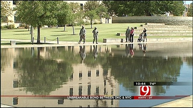 Water Ties Oklahoma City And New York City Memorials Together