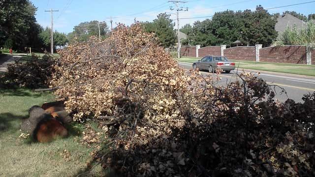 Edmond Residents Waiting For Debris Pickup After August Storm