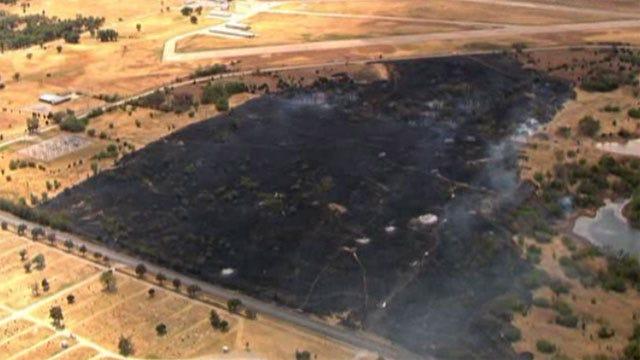 Fire Crews Extinguish Wildfire In Pauls Valley