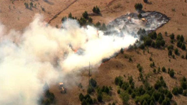 Wildfire Near Tecumseh Contained