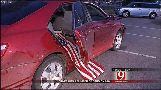 Driver Causes Mayhem Along 11-Mile Stretch Of I-40