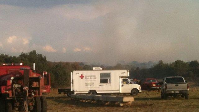 Firefighters Battle Wildfire Near Hennepin