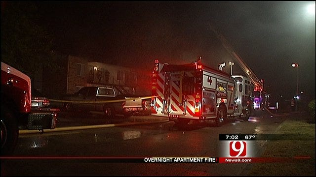 Lighting Strike To Blame For Apartment Fire In Northeast OKC
