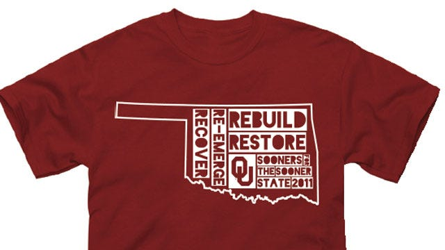 OU Shirt/Hat Sales To Help OK Disaster Relief Organizations