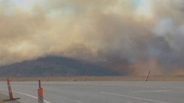 Firefighters Struggle Against Wildfire In Southwestern Oklahoma