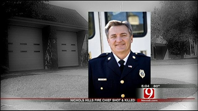 Nichols Hills Firemen Stand Watch Until Chief's Funeral