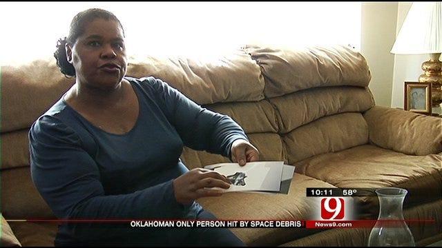 Oklahoma Woman Struck By Space Debris Keeps Eye On Satellite
