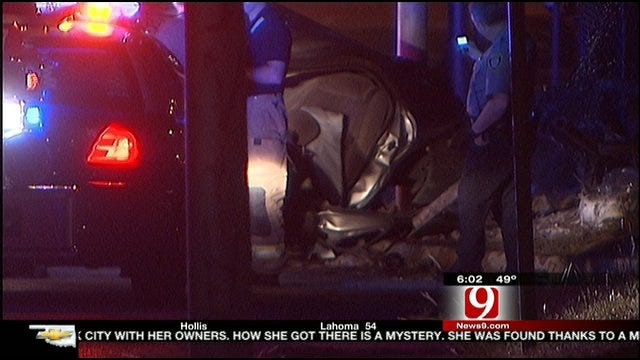 Police Chase Ends In Crash In Southwest OKC