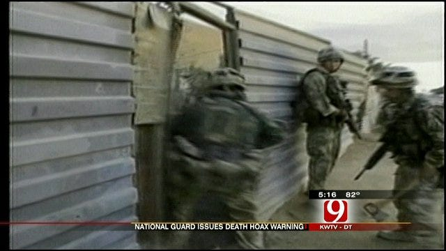 Service Members' Families Alerted About Death Notice Hoax