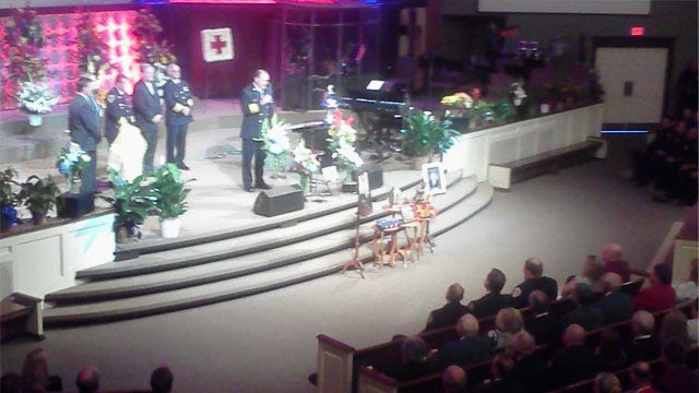 Friends, Family Pay Final Respects To Slain Fire Chief