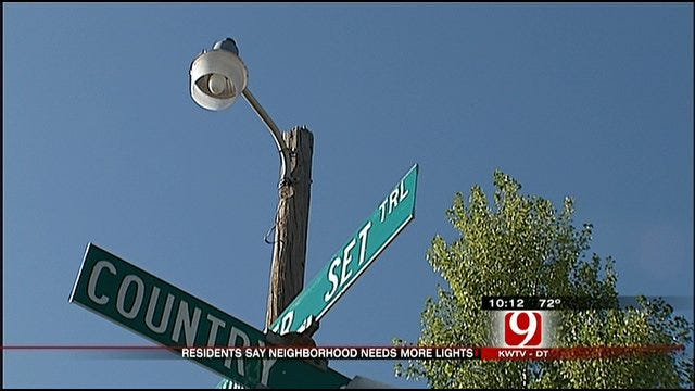 Residents Upset Over Street Light Safety Issues In Edmond