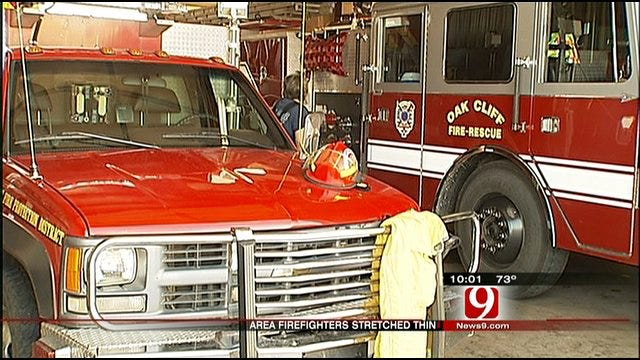 Cool Temperatures Welcome Break For Oklahoma Firefighters