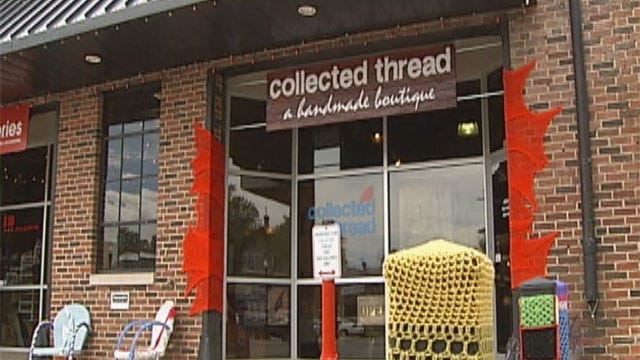 OKC's Plaza District Is 'Strung Out' By Hard-Core Knitters