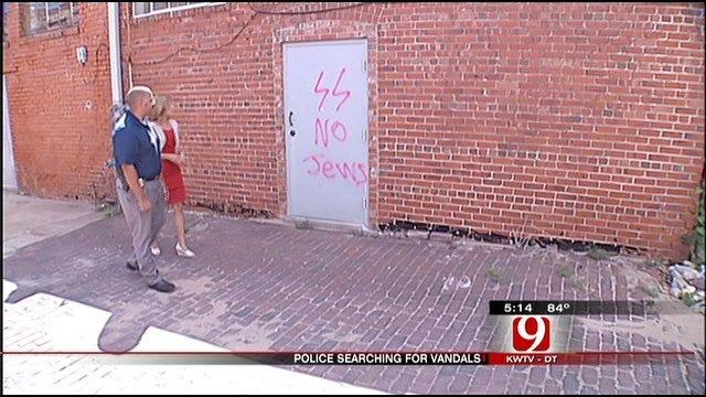 Vandals Strike Downtown Cushing