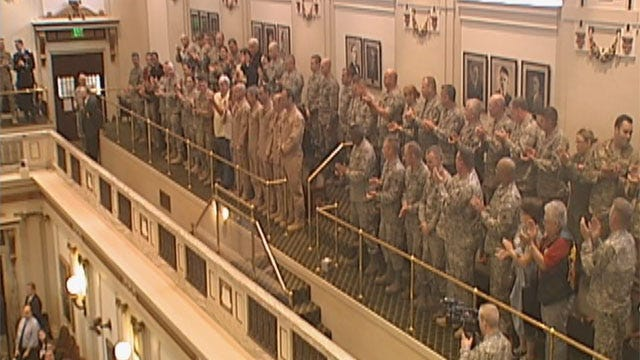 Oklahoma National Guard Honored At State Capitol