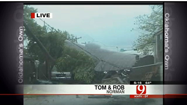 Damage Reports Popping Up All Over Norman Area