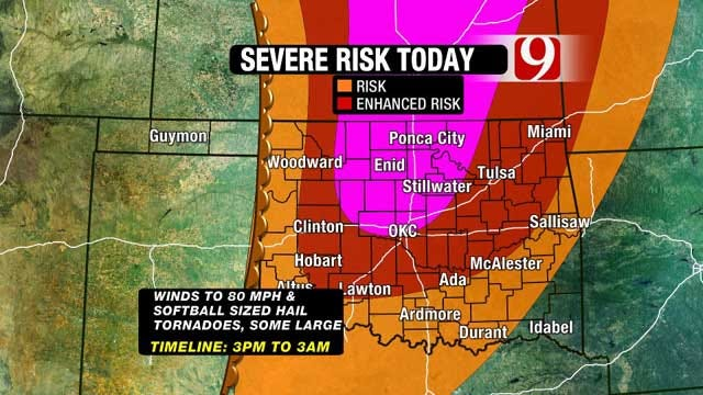 News 9 Weather Team: Most Of Oklahoma At Risk For Severe Weather Saturday