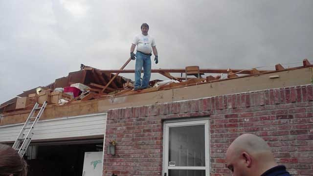 Overnight Tornado Rips Roof Off OKC Couple's House