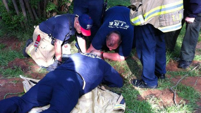 OKC Firefighters Save Puppy From 20-Foot Well