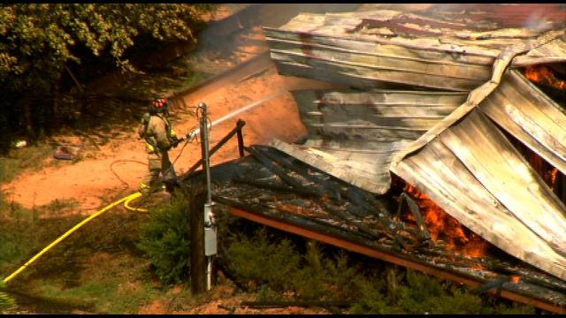 Fire Sweeps Through Home In Newalla