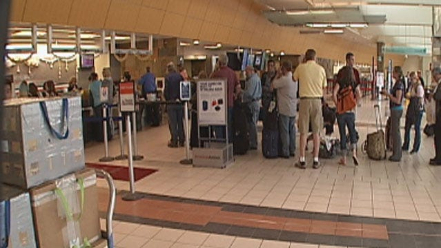 Travelers Stranded At Will Rogers World Airport Due To Dallas Storms