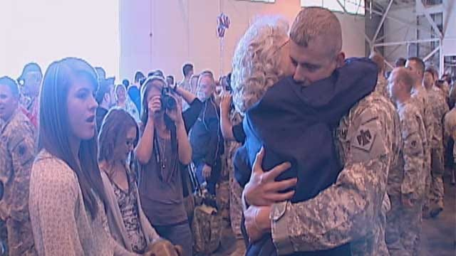 More Troops Return Home In Oklahoma City