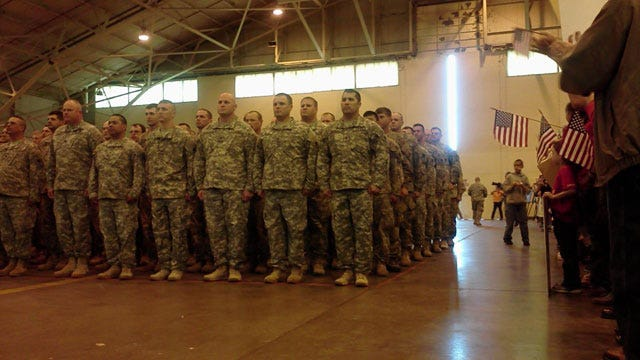 Final Large Group Of 45th Brigade Soldiers Return To Oklahoma