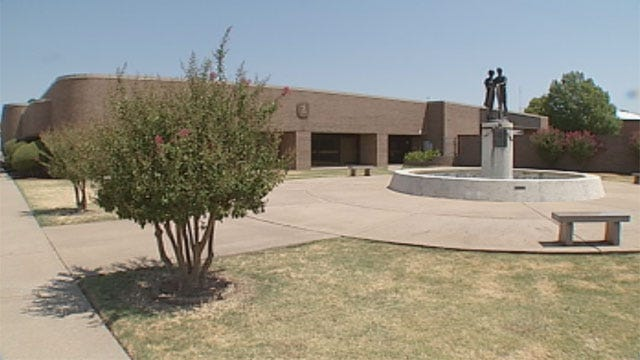Memorial Fountain For Edmond Post Office Shooting Victims Runs Dry