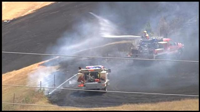 OKC Firefighters Contain Grassfire At I-240 And Douglas