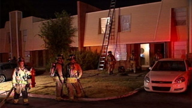 Man Arrested, Accused Of Setting Fire To Sister's OKC Apartment