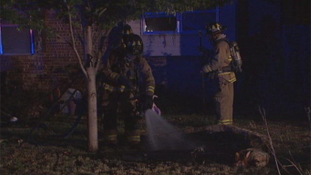 OKC Man Tries To Fight Fire On His Own