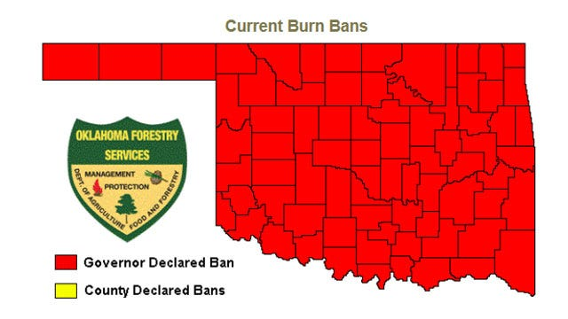 Governor Issues Statewide Burn Ban For Oklahoma